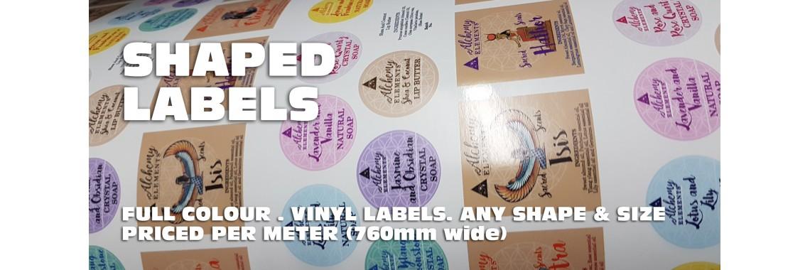 Shaped Labels